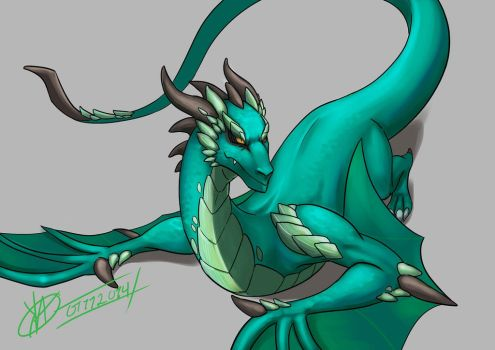 Jade dragon by Unirizz