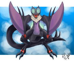 A Wild Noivern Appeared! by M-o-n-s-t-a-R