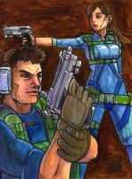 Sketchcard PXZ Chris and Jill by fedde