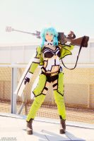 Sinon cosplay by HeavenAndSky