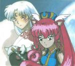 Sesshomaru with Mimi Ru Sasha by bluebellangel19smj