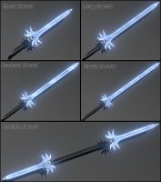 Chaos Rod - Sword Forms by ZauberParacelsus