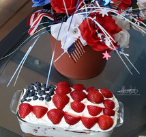 Photography::Fourth of July Cake by SilverSummerSong