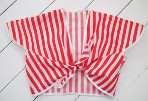 1940's Tie Top - Candy Stripe by rascalkosher