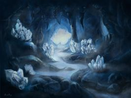 Misty Cave by ahnethys