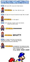 SMBHotS Mario's reaction about Truth of SMG4 Mario by KingAsylus91