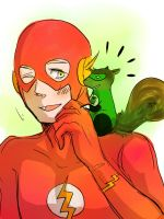 ::Hal/Barry:: Still Squirrel by NaOH-giveup