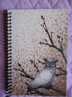 Painted notebook by MadMonaLisa