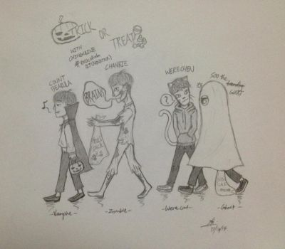 Trick or Treating with Exo! by Turquoise-luck