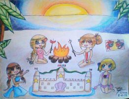 Summer with Hetalia- Microstates by DaisyLovin