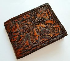 Front of Johto/Kanto map leather wallet by Bubblypies