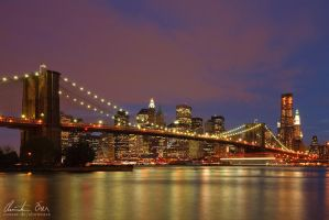 NY Manhattan Skyline by Nightline