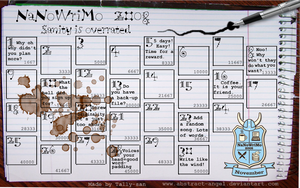 NaNoWriMo Calendar 2008 by Abstract-Angel