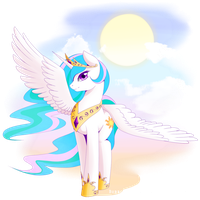 Princess Celestia by BubblesTea