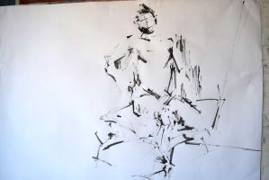 Figure Drawing with Ink 3 by Explonova