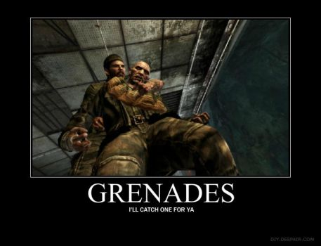 Grenades by MaddociousTheEnigma