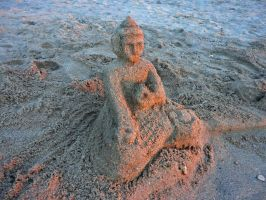 Buddha Sand Sculpture by Simple1DEA