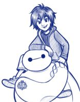 Hiro And Baymax by Miss-Melis