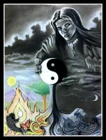Two Halves of a Whole- Yin Yang and Iroquois Myths by thelinesthattied