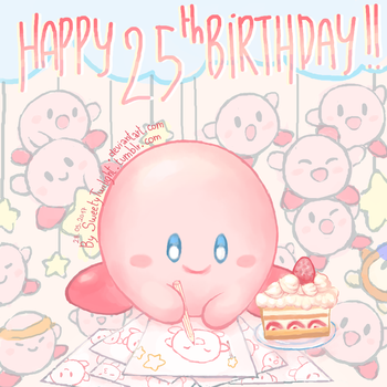 [Kirby] Happy 25th Birthday !! by SweetyTwilight