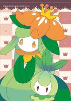 Petilil and Lilligant Poster