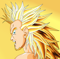 James full power SSJ2 ANGER by JJJawor