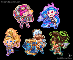 League of Legends: Key chain Set Part II by Mikochi