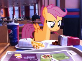 PIRL: Come on eat your chicken by PonyWithACrispyFace