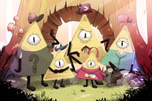 Bill Cipher's family by CKibe