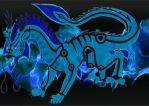 Azuriah - Bonded Tailed Beast State by crescentwolf01