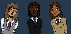 HP: Ravenclaw Girls by protonoodle