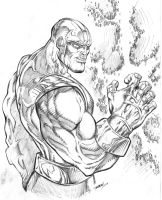 Thanos Mad with Power by RAM by robertmarzullo