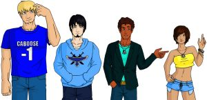 RvB Line-up - The Blues by pixie-blue
