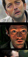 Tegaki - Castiel face practices by Sukautto