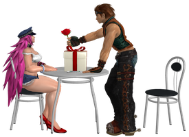 POISON AND HWOARANG DATE by LELERK