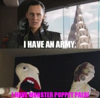 Loki VS. Markiplier:  I Have Monster Puppet Pals by WorldwideImage