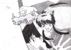 InuYasha with Sword by atty12