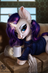 Rarity- Winter morning by Obpony