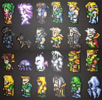 Final Fantasy 6 Main Cast - Side by IAmArkain