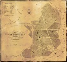 Original 1879 City Plan of Autumn by rickycolson