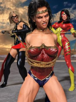 Wonder Woman Captured 2 by DahriAlGhul