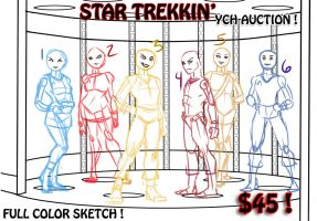 Star Trekkin' YCH 6 slots Full Color Sketch Auctio by lady-cybercat