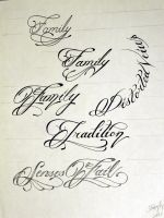 Tattoo Script 1 by StevenWorthey