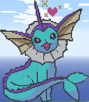Minecraft - Vaporeon Sprite by MiniLilly