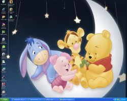 Desktop-Pooh and Baby Friends by LittleAlyce