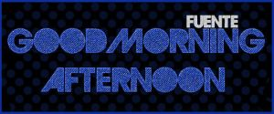 Fuente Good Morning Aft .-Font by Movimientodealegria