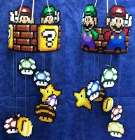Mario Luigi movile Hama by Hamamia