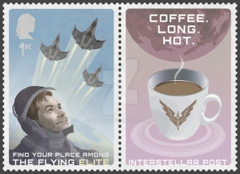 Elite: Dangerous Stamp feat. David Braben by Araen
