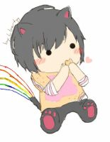 Nyan cat turns to a boy. by IamLibertyy