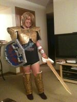 Magic Armor + (Unfinished Sword) and Shield by Zelda--Master